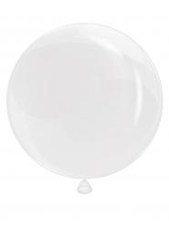 Rund ballong i vitt 45 cm