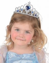 Silverdiadem med blå diamant för barn - Halloween tillbehör