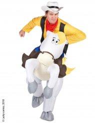 Lucky Luke™ på Jolly Jumper - Carry me-dräkt för vuxna