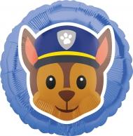 Chase från Paw Patrol™- Alluminiumballong från Emoji™ 43 cm