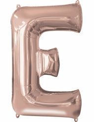 Bokstaven E - Aluminiumballong i Roséguld 53 x 81 cm