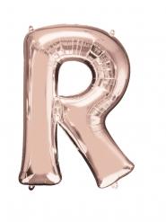 Bokstaven R - Aluminiumballong i Roséguld 58 x 81 cm