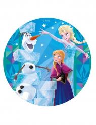 Tårtbild från Frost™ med systrana Elsa och Anna™ 20 cm