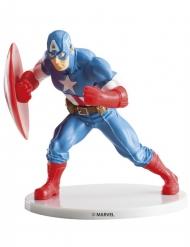 Captain America™-figurin till tårtan 9 cm
