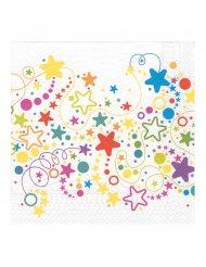 20 papperservetter med ett virrvarr av stjärnor