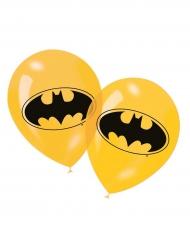 6 Ballonger i gult latex från Batman™