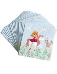 20 servetter med prinsesstryck 33 x 33 cm