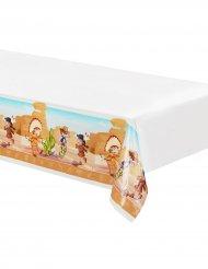 Bordsduk i plast med cowboy & indianmotiv 130x180 cm