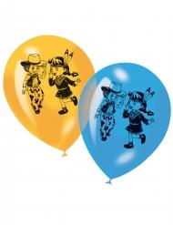 6 Ballonger med cowboy & indiantryck