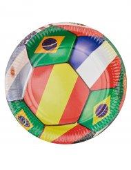 Världskuppen - 6 kartongtallrikar till kalast 23 cm