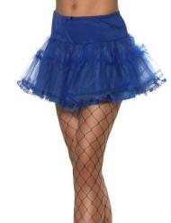 Kort blå underkjol dam