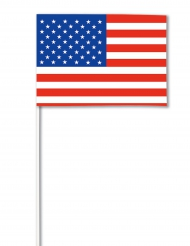 USA flagga i papper 14 x 21 cm - Supporterprylar