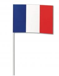 Franska flaggan i papper - Supporterprylar 14 x 21 cm