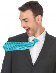 Turkos slips med paljetter - Maskeradtillbehör