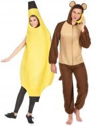 Banan och Apa pardräkt vuxen