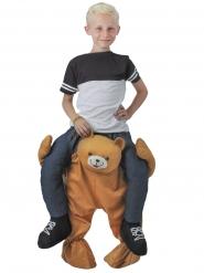 Rider på en nalle - Carry me-dräkt för barn till maskeraden