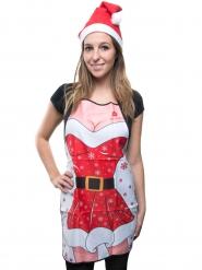 Roligt julförkläde Tomtemor