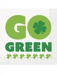 Go Green - 16 Pappersservetter till St. Patrick