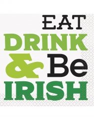 Eat drink & be Irish - 16 servtter 25 x 25 cm
