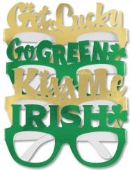4 kartongglasögon till St. Patrick