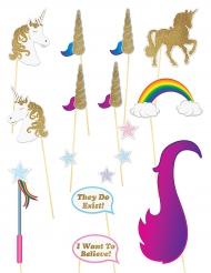 Sparkling unicorn - Photobooth kit
