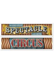 2 Cirkusbanderoller 38x150 cm