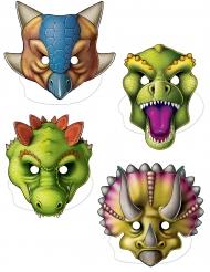 4 Dinosauriemasker av papp