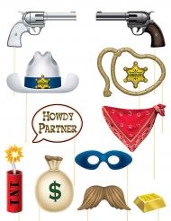 Vilda västern - Photobooth kit till maskeraden