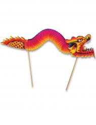 Kinesisk drakdekoration 24x66 cm