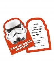 8 inbjudningskort med tryck av Stormtrooper™