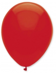 6 rubinröda ballonger 30 cm - Partydekorationer