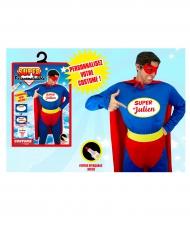 Humoristiskt superhjältekit som går att individualisera