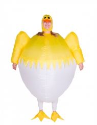 Uppblåsbar kycklingdräkt för vuxna till påsk