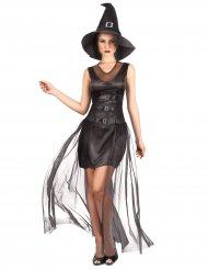 Läder och remmar - Häxdräkt för vuxna till Halloween
