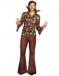 Blommiga Bert - Hippiedräkt för vuxna