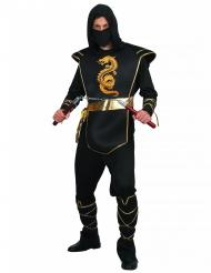 Gyllene drakeld - Ninjadräkt för vuxna