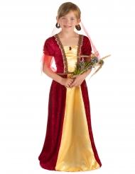 Röda jungfrun - Medeltida klänning för barn