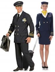 Flygplanspersonal pardräkt vuxen