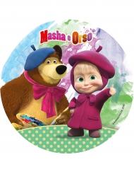 Tårtbild Masha och Björnen - 21 cm