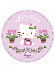 Hello Kitty™ med gröna fingrar - Tårtbild 21 cm
