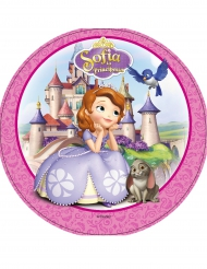 Tårtbild - Prinsessan Sofia™ med sina djur 21 cm