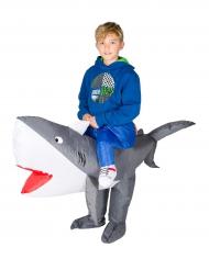 Hajsafari - Uppblåsbar maskeraddräkt för barn