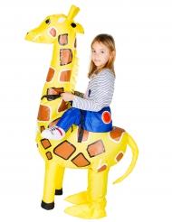 Jag & Giraffen - Uppblåsbar kostym för barn till maskeraden