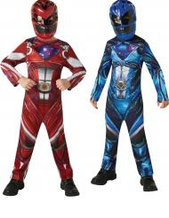 Power Rangers™ pack med röd och blå kostym för barn