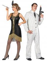 Herr & Fru Fitzgerald - Pardräkt för vuxna i 20-talsstil