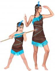 Spanande indianduo - Pardräkt för vuxna och barn