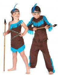 Indianpardräkt för barn till kalaset