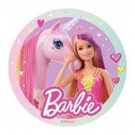 Barbie™ - Tårtbild till kalaset 20 cm