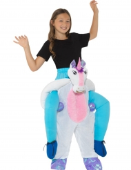 Rider på en enhörning - Carry-me dräkt för barn