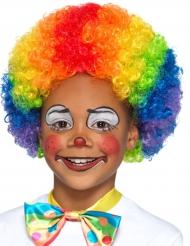 Regnbågsclown - Peruk för barn till kalaset